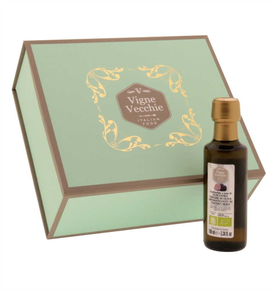 Organic extra virgin olive oil black truffle infused 100ml